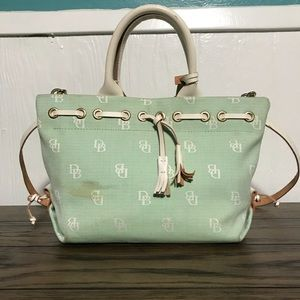 Dooney & Bourke signature fabric satchel